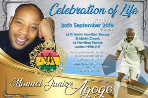 Junior Agogo goes home today