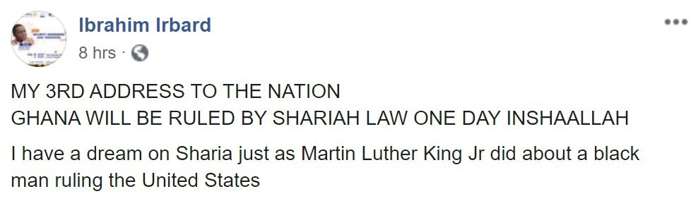 HANA WILL BE RULED BY SHARIAH LAW