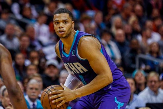 Hornets forward Miles Bridges has started all 12 games for the Hornets this season, including Friday's matchup against the Pistons. (Photo: Nell Redmond, Associated Press)