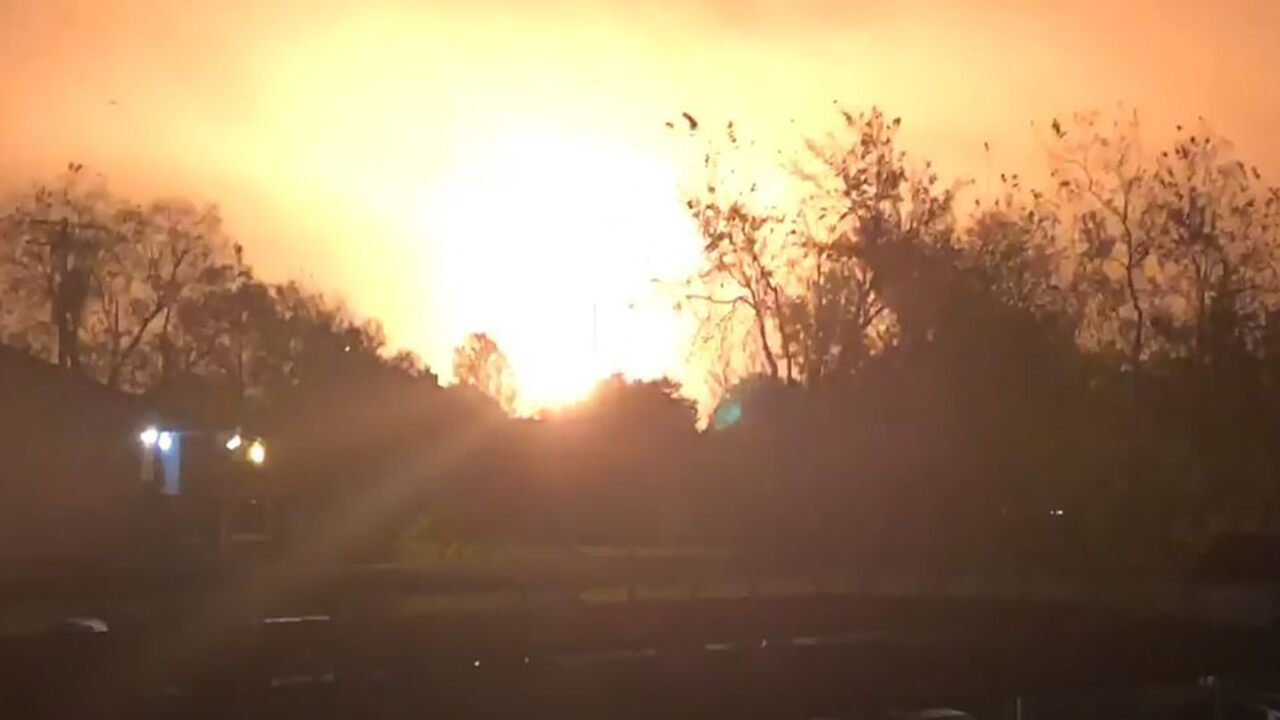 Texas chemical plant explosion erupts in flames, rattles homes for miles