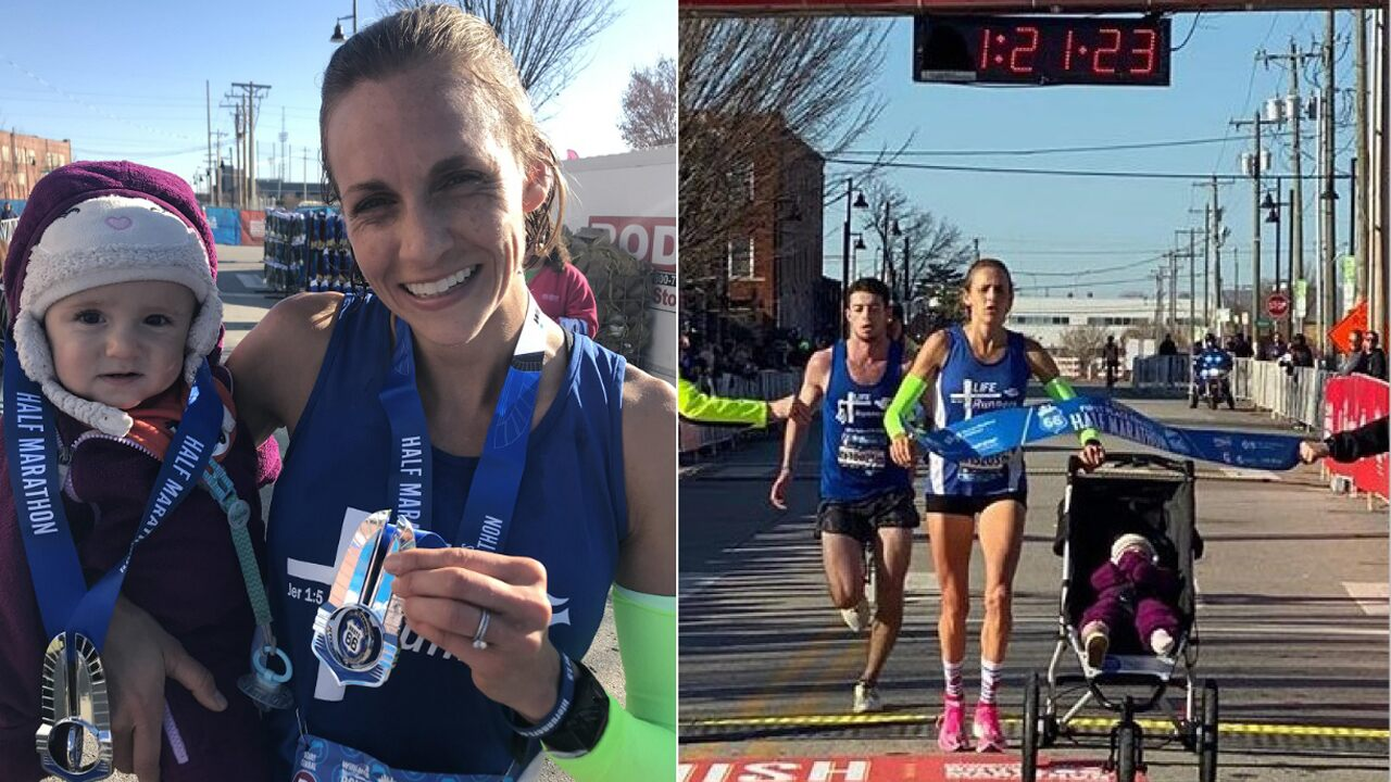 Fox news today: Guinness Book of World Records half-marathon time bested by mom — and her 10-month-old daughter
