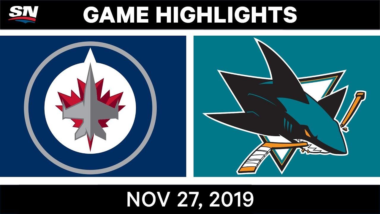 Latest Sports News: NHL Highlights | Jets vs. Sharks – Nov. 27, 2019 – SPORTSNET