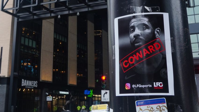 Latest Sports News: This is who's behind those Kyrie Irving 'coward' posters – Boston.com