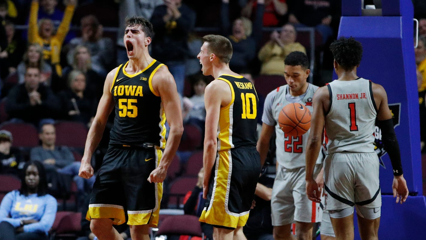 Latest Sports News: Iowa 72, No. 12 Texas Tech 61: Hawkeyes knock off reigning national runner-up – Hawk Central