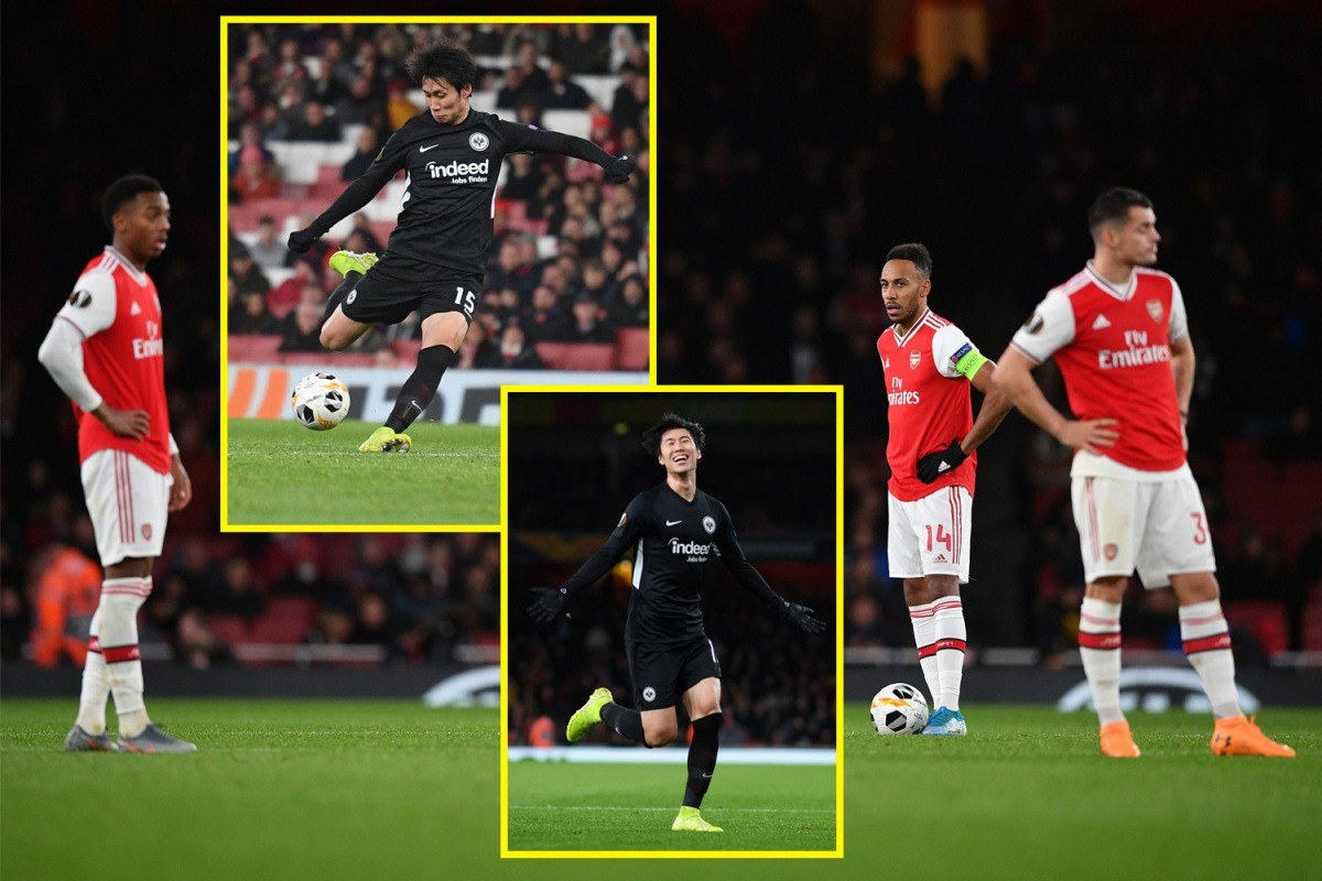 Unai Emery on the brink as Arsenal throw away one-goal lead to lose Europa League clash against Eintracht