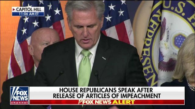 Fox News Today: Kevin McCarthy: Dems cannot get over the fact Trump won the election