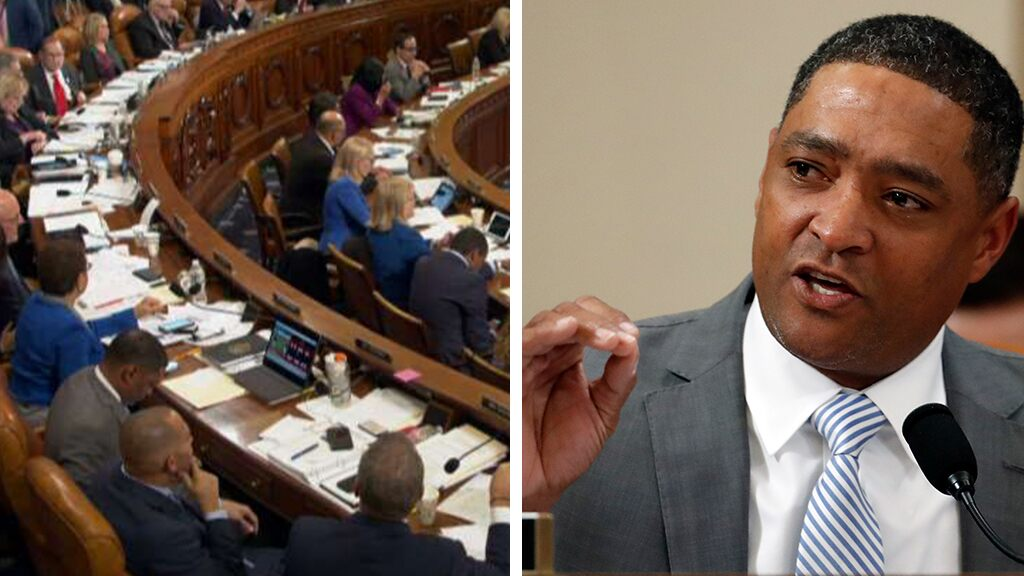 Fox News Today: Dem Congressman Cedric Richmond appears to be watching golf on laptop during impeachment debate