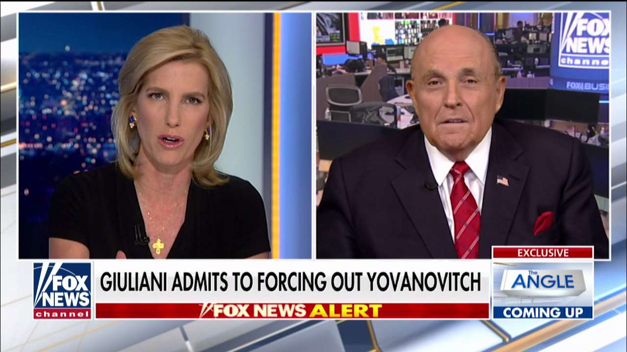 Fox News Today: Rudy Giuliani says he was key player in Yovanovitch ouster, has proof of Dem impeachment a 'cover-up'