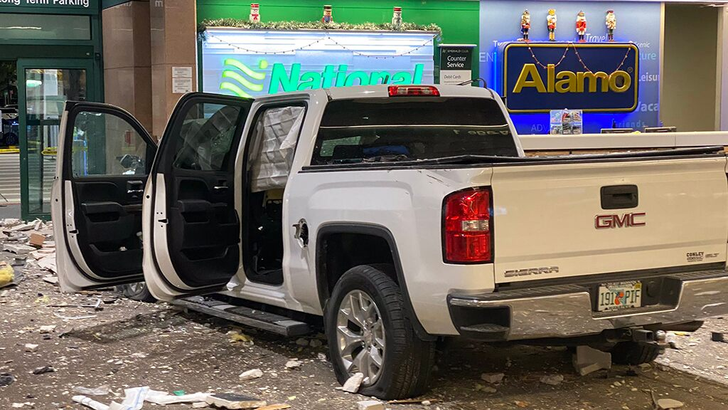 Fox News Today: Pickup truck crashes through Florida airport's baggage claim area, slams into rental car counter