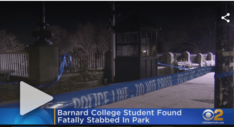 18 Year Old College Student Found Stabbed To Death In Manhattan Park