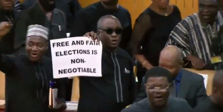 'We deserve better' – Ghanaians reacts to minority's walk out