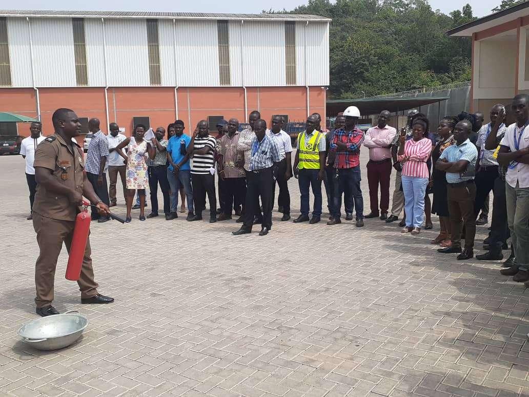 ECG Staff undergo fire safety training