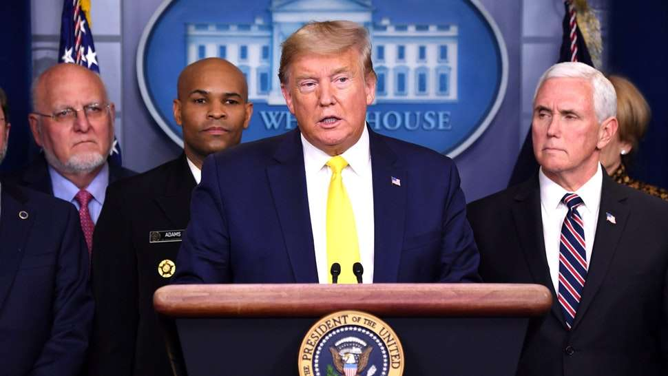 President Donald Trump announced on Monday that the administration was going to seek to cut payroll taxes and provide economic relief to hourly employees who suffer economic harm from the coronavirus, which originated in China.