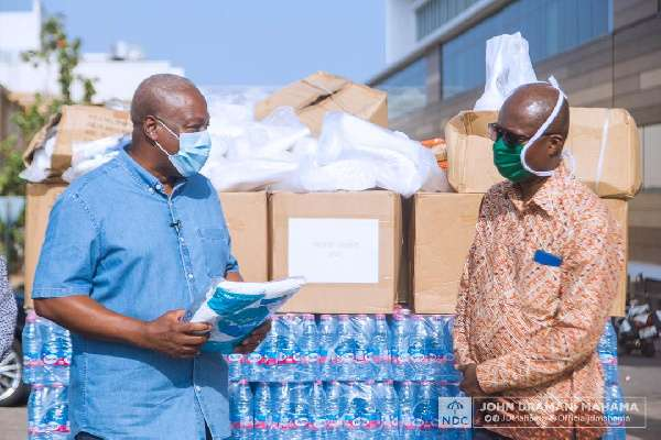 Ghanaians need help now, not futuristic salary contributions -Mahama defends PPE donation