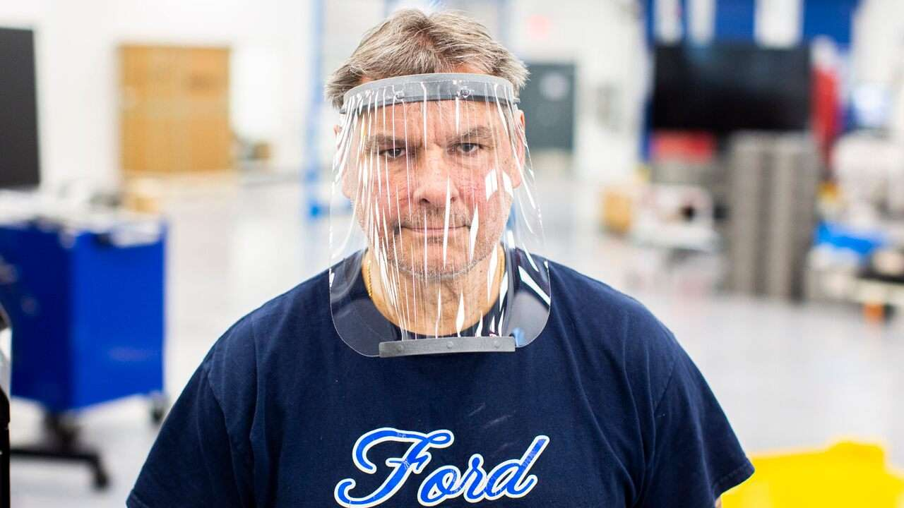 Ford Motor Co. donates thousands of COVID-19 face shields to US military