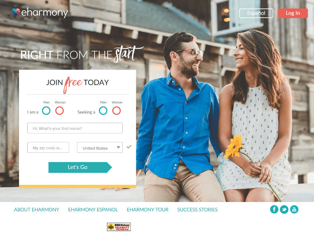 Those in the United States have so many options to choose from when it comes to dating sites for serious relationships. eHarmony has a complicated system that predicts the compatibility of users by combing their location information and profile data.
