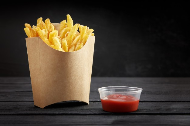 Fries Boxes are made from Recycled and Certified Natural Kraft Paper