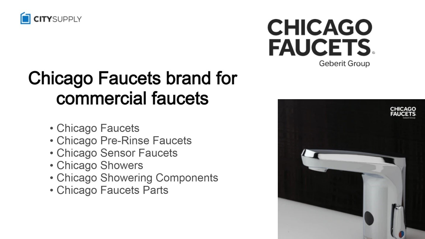 Chicago Faucets brand for commercial faucets