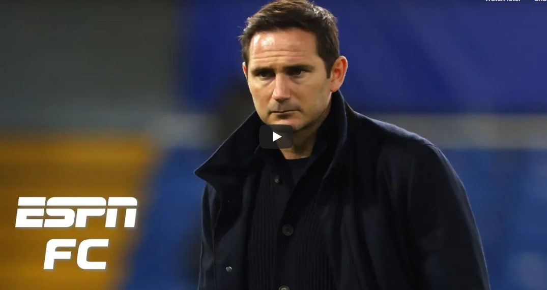 "Video: ""Who with any brains is going to be calling for Frank's head?"" – ESPN pundit defends Lampard"