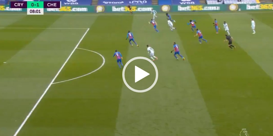 CRY 0:1 CHE Kai Havertz Skillfully Placed Finish Fires Blues Into Early Lead