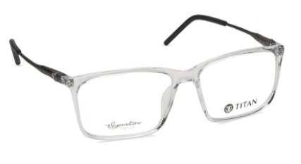 Transparent Rectangle Rimmed Eyeglasses from Titan