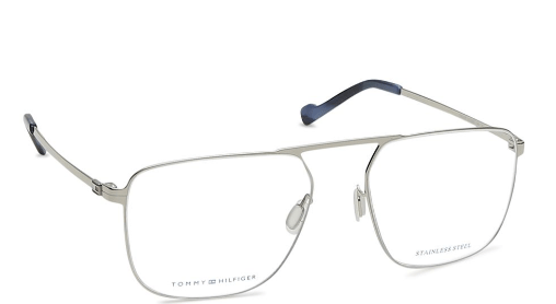 Silver Square Rimmed Eyeglasses from Tommy Hilfiger