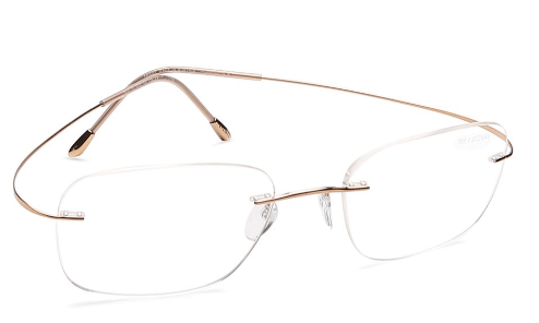 Gold Square Rimless Eyeglasses from Silhouette