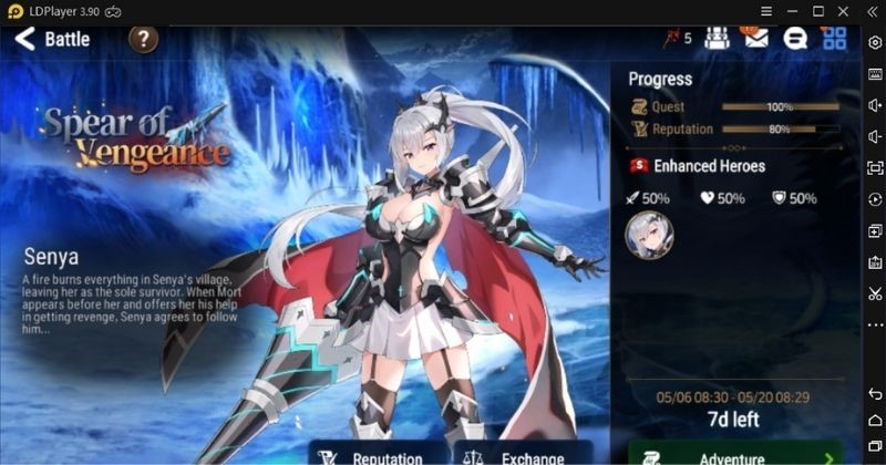 """A new side story is also added to the game in this update. This side story is released for the new hero Senya. The side story spear of vengeance will occur in a village. The players of the above level 9 can get this new side story. It is available for these players inside the story tab. This new side story will award the players with multiple rewards and events currency, when the players clear, it's different stages. """"Mysterious Barries """" is the event currency of this side story."""