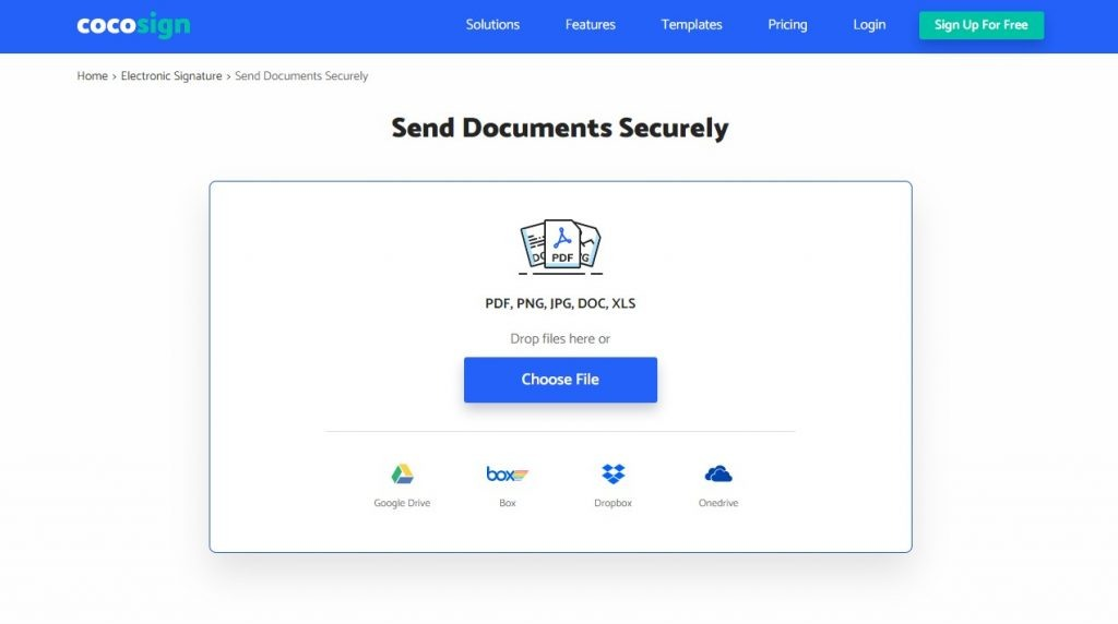 CocoSign provides the users with maximum security with fingerprints ad passwords. It makes sure that all the users' confidential data is protected and no third party has access to it.