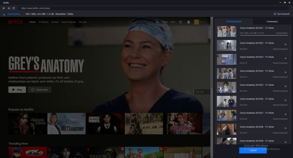 Step 2 - Browse and Choose a Video to Play  Sign in to your Netflix account, browse through the different videos available, and choose the one you wish to download.