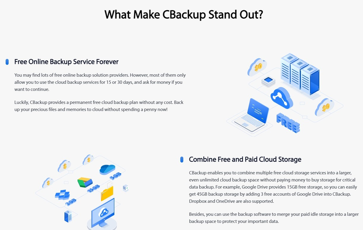 Cloud backup is a service that uploads and stores data and applications on a business's servers on a distant server. Businesses use cloud backup to keep files and data accessible in the case of a system outage, outage, or natural catastrophe. Business cloud backup works by duplicating and storing your server's contents on another server in a different physical location. Depending on its needs, a company can back up part or all server files.