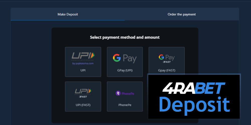 4RABET Deposit